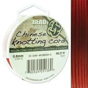 BeadSmith Chinese Knotting Cord Dark Siam  0,8 mm