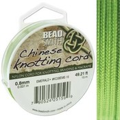 BeadSmith Chinese Knotting Cord Emerald  0,8 mm