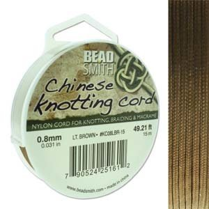 BeadSmith Chinese Knotting Cord Light Brown 0,8 mm