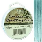 BeadSmith Chinese Knotting Cord Powder Blue 0,8 mm