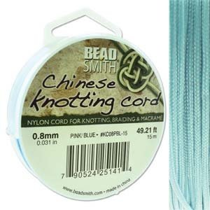BeadSmith Chinese Knotting Cord Powder Blue 0,8 mm