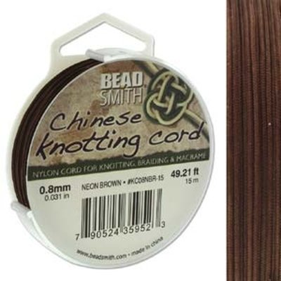 BeadSmith Chinese Knotting Cord Neon Brown 0,8 mm