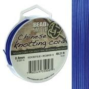 BeadSmith Chinese Knotting Cord Neon Dark Blue 0,8 mm