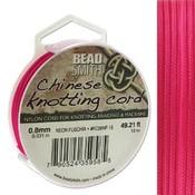 BeadSmith Chinese Knotting Cord Neon Fuchsia 0,8 mm