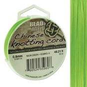 BeadSmith Chinese Knotting Cord Neon Green 0,8 mm