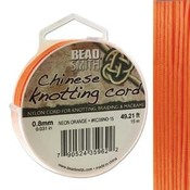 BeadSmith Chinese Knotting Cord Neon Orange 0,8 mm