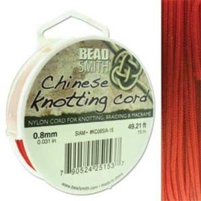 BeadSmith Chinese Knotting Cord Siam 0,8 mm
