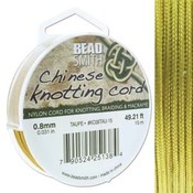 BeadSmith Chinese Knotting Cord Taupe  0,8 mm