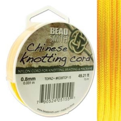 BeadSmith Chinese Knotting Cord Topaz 0,8 mm