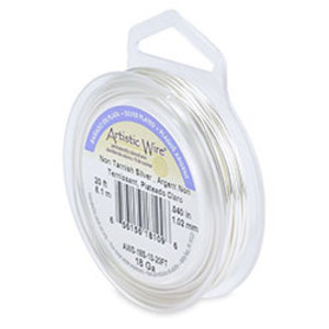Artistic Wire Tarnish Resistant Silver 18 gauge
