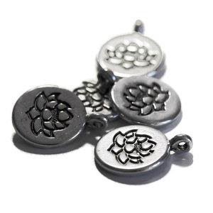 Metalen bedel Lotus (5 stuks)