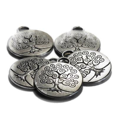 Metalen bedel Tree of Life (5 stuks)