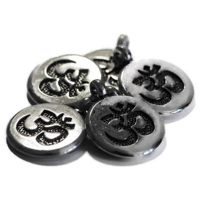 Metalen bedel Ohm-teken (5 stuks)