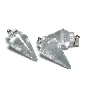 Edelsteen hanger bergkristal (p/st)
