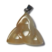 Carneool edelsteen hanger triquetra (p/st)