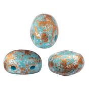 SAMOS® PAR PUCA® kralen Opaque Blue Turquoise Tweedy (10 gr)