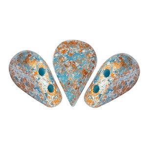 AMOS® PAR PUCA® kralen Opaque Blue Turquoise Tweedy (10 gr)