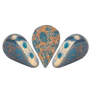 AMOS® PAR PUCA® kralen Opaque Blue Turquoise Bronze (10 gr)