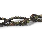 Agaat - 'Flower' agaat kralen 4 mm rond (streng)