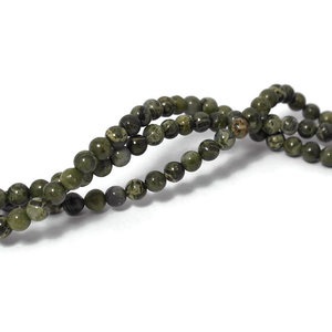 Jaspis - Afrikaans groene jaspis kralen 4 mm (streng)