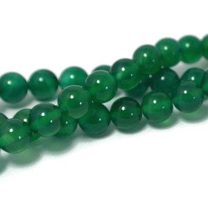 Onyx - groene onyx kralen 8 mm rond (streng)