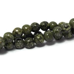 Jaspis - Afrikaans groene jaspis kralen 6 mm (streng)