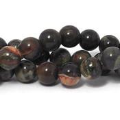 Agaat - 'Flower' agaat kralen 10~10,5 mm rond (streng)