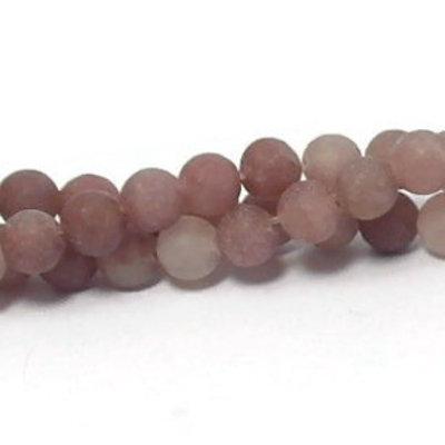 Aventurijn - paarse aventurijn kralen 8~8,5 mm rond 'frosted' (streng)