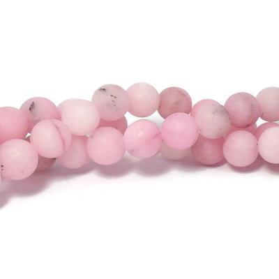 Jaspis- roze sesam jaspis kralen 10~10,5 mm rond 'frosted' (streng)