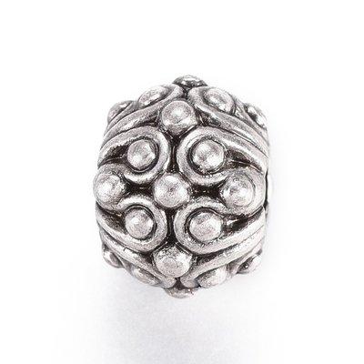 Metalen kralen 'Bloem' (5 st)