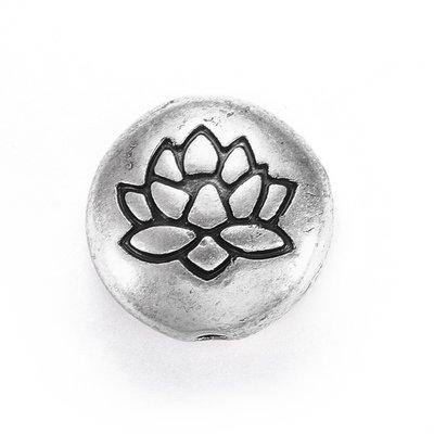 Metalen kralen 'Lotus' (5 st)