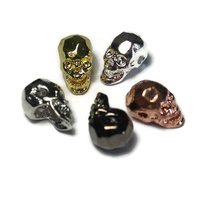 Metalen kralen skull mix (5 stuks)