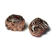 Metalen kralen olifant rosé goudkleur (p/st)