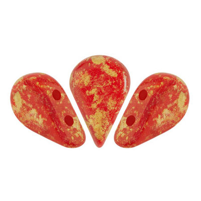 AMOS® PAR PUCA® kralen Opaque Coral Red Splash (10 gr)