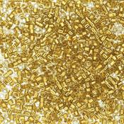 Miyuki delica kralen 11/0 gold plated lined yellow DB-2525 (tube 7,2 gr)