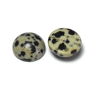 Jaspis - dalmatïer jaspis cabochon 12 mm (p/st)