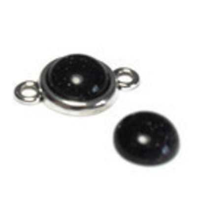 Black Stone  cabochon 12 mm (p/st)
