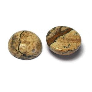 Jaspis - Picture jaspis cabochon 12 mm (p/st)