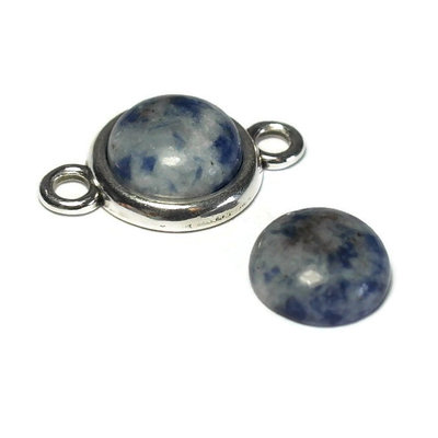 Blue spot stone cabochon 12 mm (p/st)