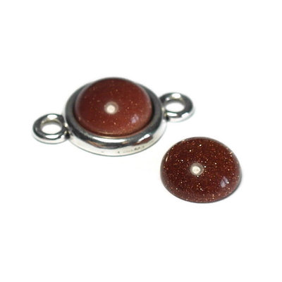 Goudsteen (bruin) cabochon 12 mm (p/st)