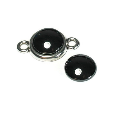 Hematiet cabochon 12 mm (p/st)
