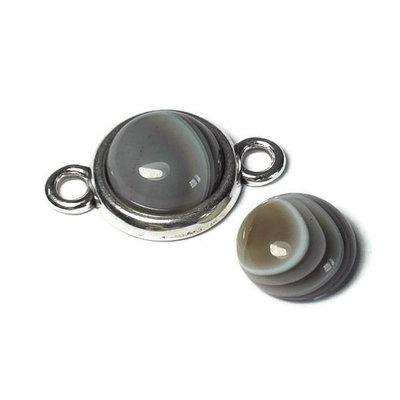 Agaat - Bostwana agaat cabochon 12 mm (p/st)