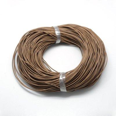 Leren koord 1,5 mm bruin (5 meter)