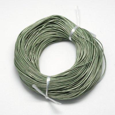 Leren koord 1,5 mm groen (5 meter)