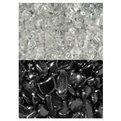 Ontlaad - en oplaad set met bergkristal en hematiet