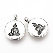 Metalen bedel Boeddha (5 stuks)