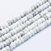 Howliet kralen 6~6,5x3~4 mm abacus (streng)
