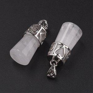 Bergkristal 'kolom' hanger (p/st)