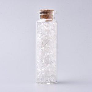 Edelsteen potje met trommelstenen bergkristal
