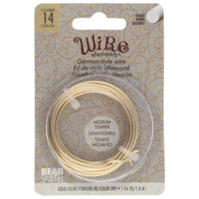 BeadSmith Wire elements -14 gauge 'Gold' semi-flexibel